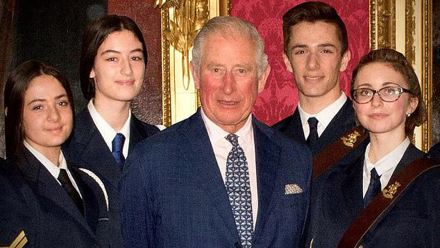 Prince Charles is hailed a 'tremendous believer in the power of young people'