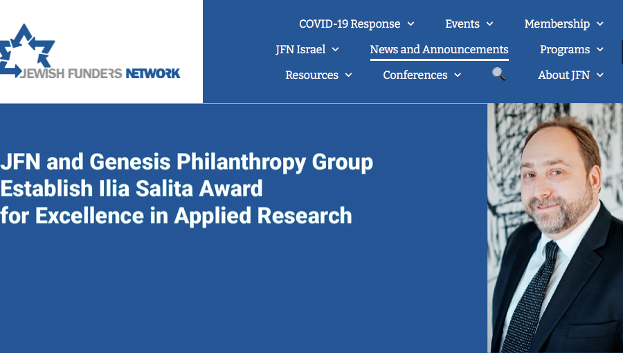 New Award Announced to Recognize Applied Research Initiatives Focused on Jewish Communities Around the World